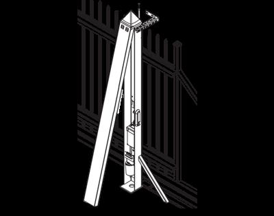 Antrieb im Torpfosten AWso-2000