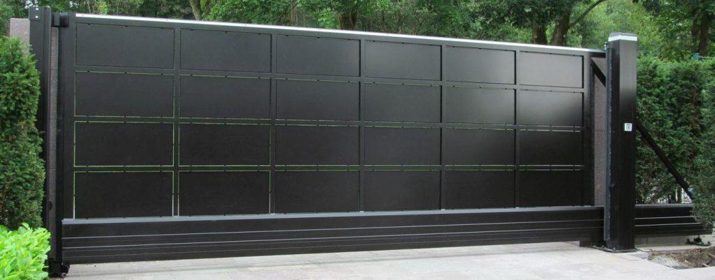 BALU Aluminium Schiebetor Kassettentor