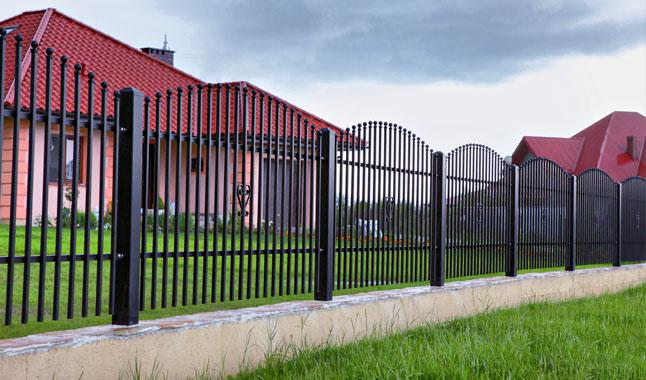 Stahlzaun / Gartenzaun aus Stahl