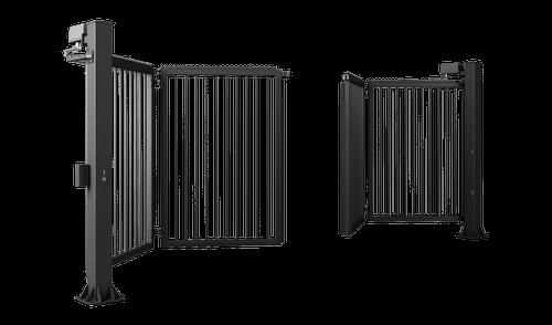 Zweiflügeliges Tor V-KING mit Stabfüllung 25x25 mm