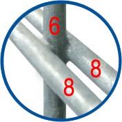 Schwere Gitterzäune Durchmesser